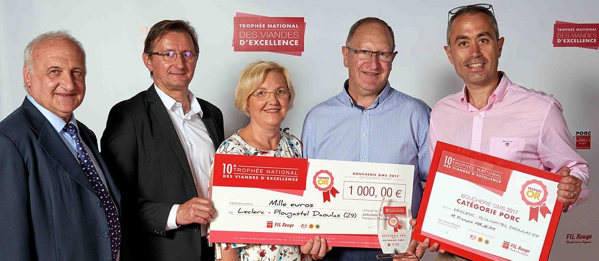 Le Groupement des Fermiers d'Argoat pour le Porc Fermier d'Argoat Label Rouge - TROPHÉE NATIONAL DES VIANDES D'EXCELLENCE 2017