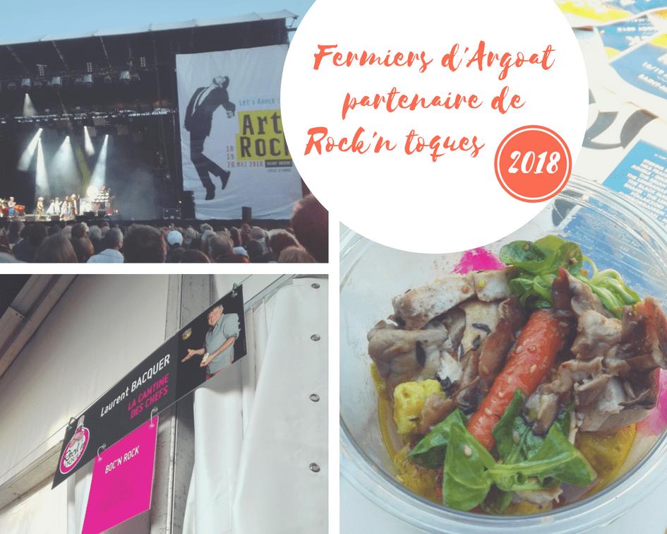 Art Rock 2018 : poulet Fermiers d'Argoat, jus court, polenta shiitake, légumes de printemps et condiments carottes-carvi